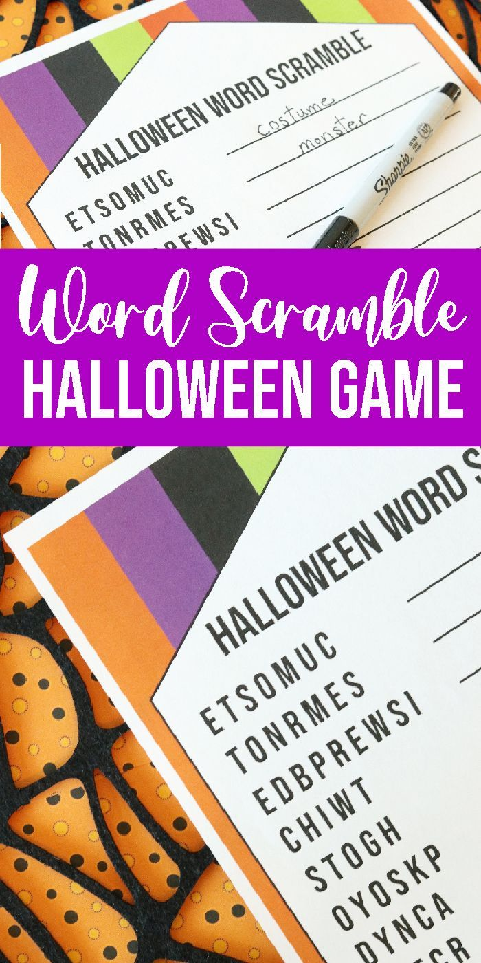 Word Scramble for Halloween! This is the perfect DIY Game