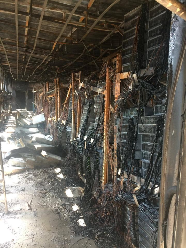 cryptocurrency mining room