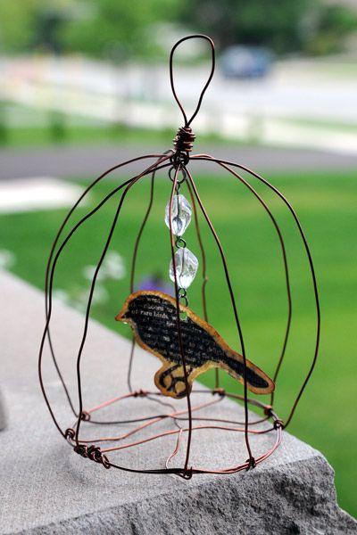 Bird In A Cage Wire Art Birds Bird Cage