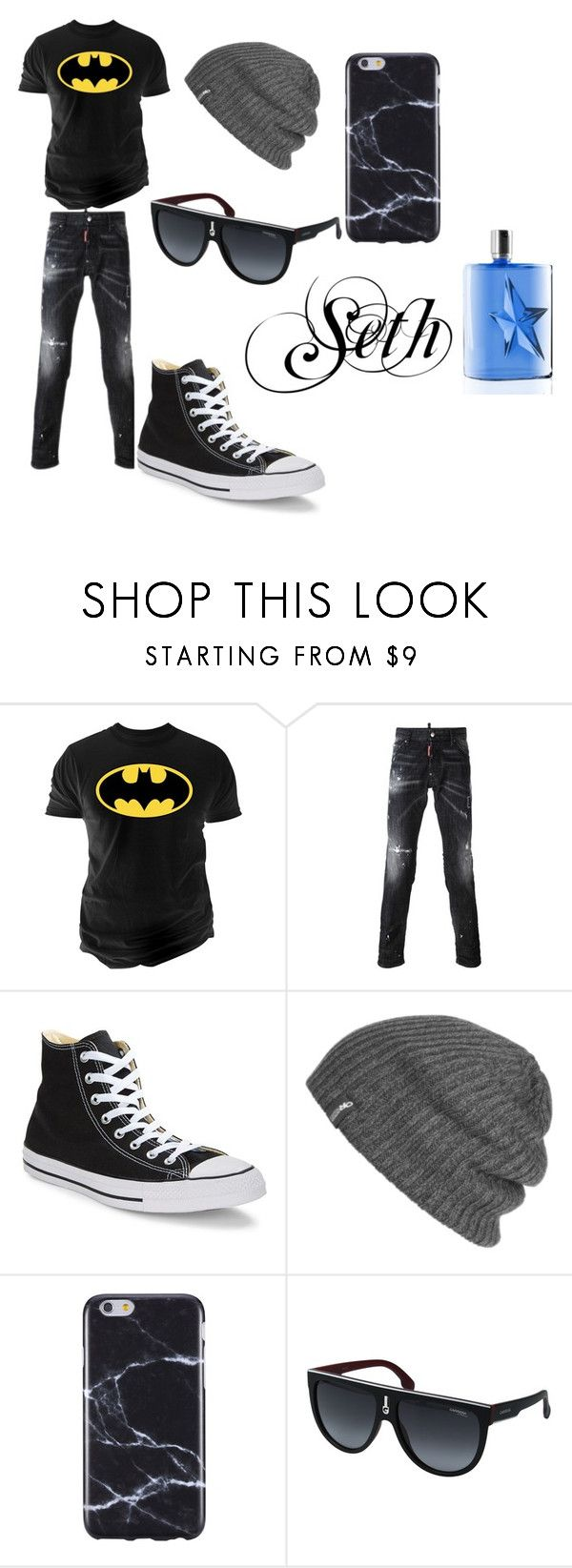 """""""Seth"""" by lakrishia-lakri-kri-brown on Polyvore featuring Changes, Dsquared2, Converse, Outdoor Research, FingerPrint Jewellry, Carrera, Thierry Mugler, men's fashion and menswear"""