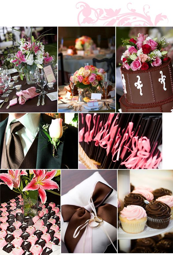 Pink And Brown Wedding Centerpieces 0 Autumn Harvest Theme For