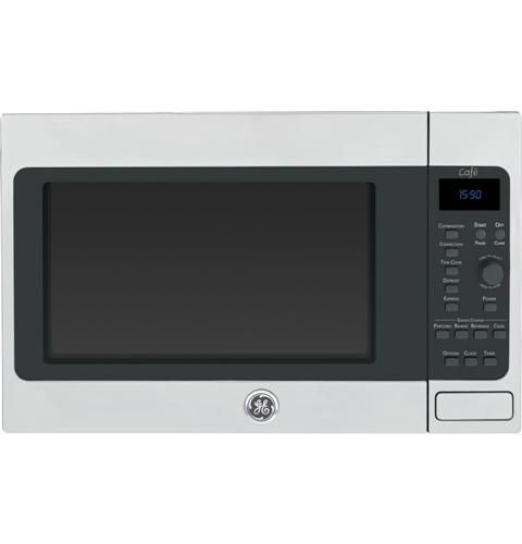 The Ge Cafe Series Microwave Oven Features A Recessed Turntable
