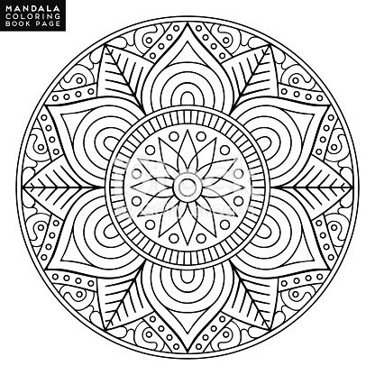 Flower Mandala  Vintage decorative elements  Oriental pattern, vector    is part of Mandala coloring books, Mandala coloring pages, Mandala coloring, Pattern coloring pages, Coloring book art, Adult coloring mandalas - Flower Mandala  Vintage decorative elements  Oriental pattern, vector illustration  Islam, Arabic, Indian, moroccan,spain, turkish, pakistan, chinese, mystic, ottoman motifs  Coloring book page