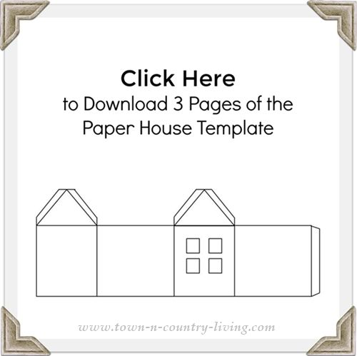 Christmas Village Free Printable To Make Your Own Paper House