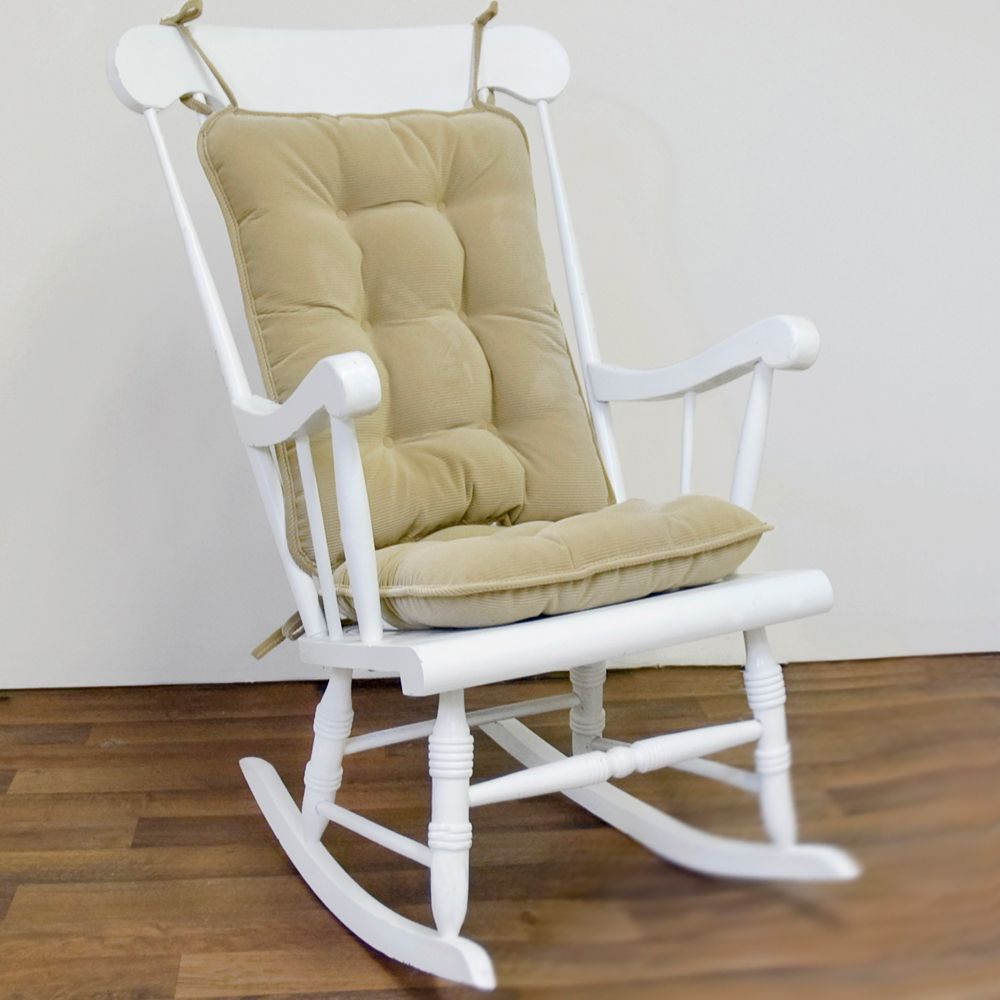 Your Wooden Or Metal Rocking Chair Will Become Instantly More Comfortable When You Tie On This Tufted Cushion Set In Clic Tan