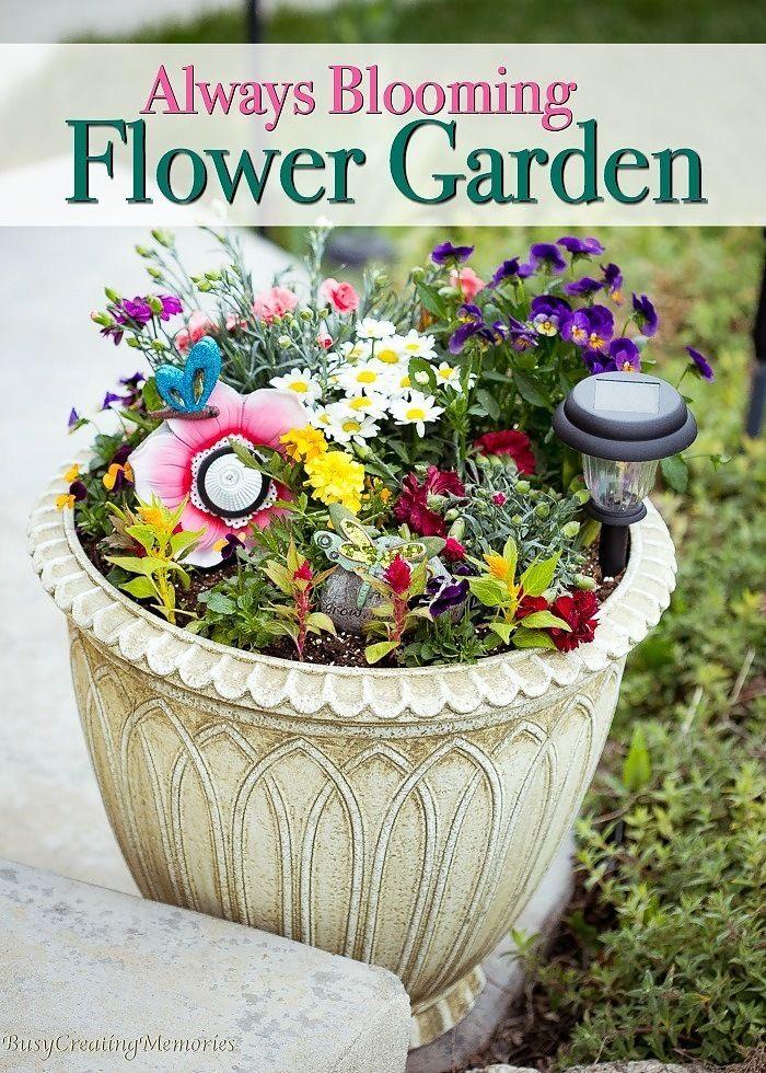 Always Blooming Flower Garden w/ blossoms all summer long via @2creatememories