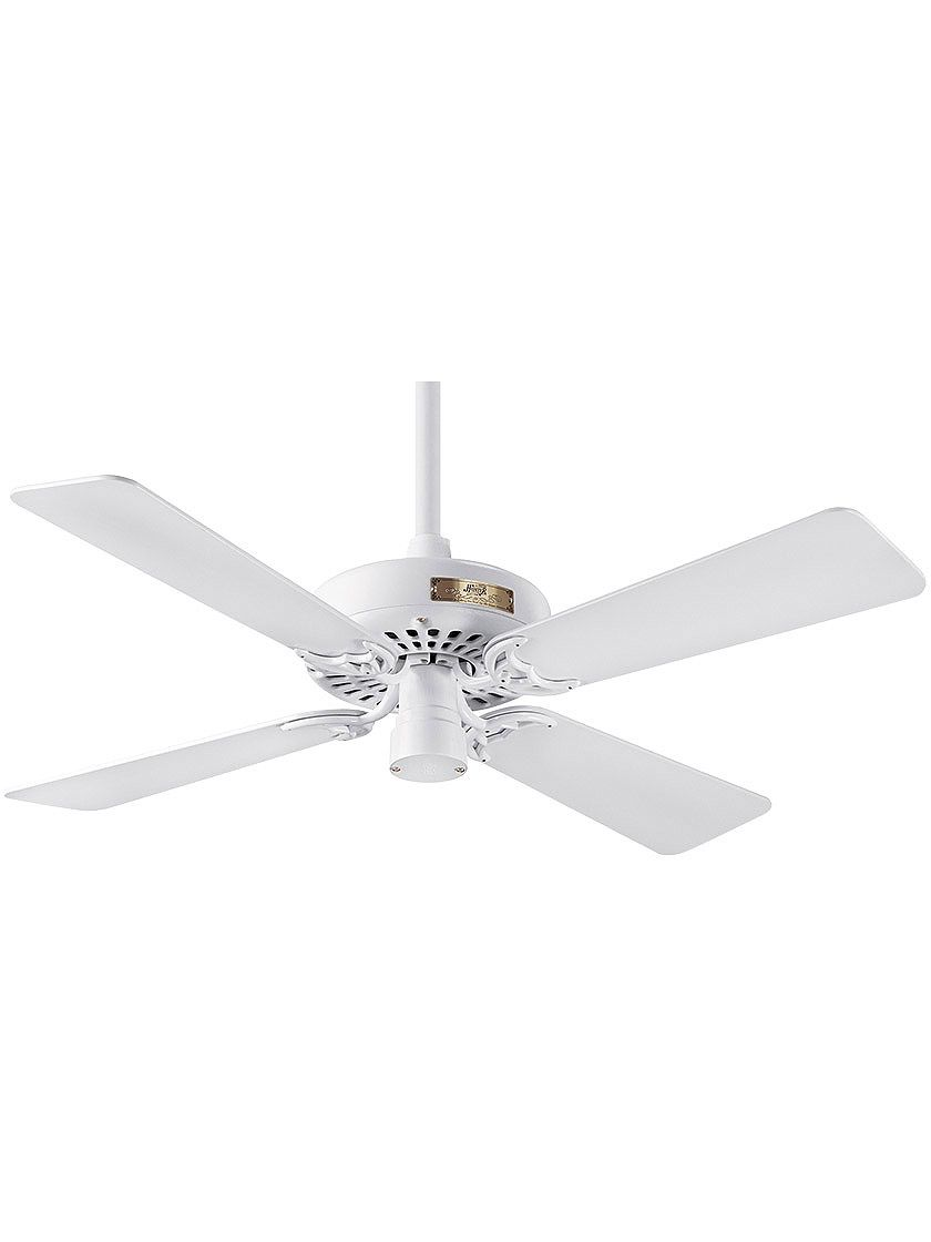 Old Ceiling Fans 42 Hunter Original Ceiling Fan In White With