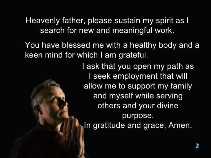 Prayer for employment Never give up, stand in the gap for your - gap in employment