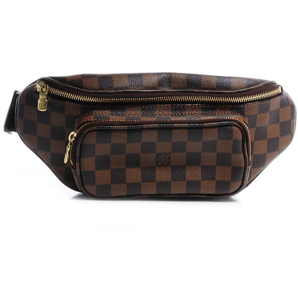 91c1765d84b4 LOUIS VUITTON Damier Ebene Bum Melville Fanny Pack ❤ liked on Polyvore  featuring bags
