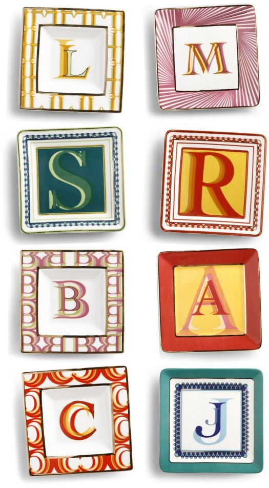 monogrammed decorative plates