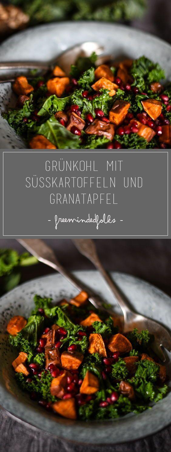 Veganes Rezept // Grünkohl mit Süßkartoffel - freemindedfolks-blog #beefhealthyrecipes