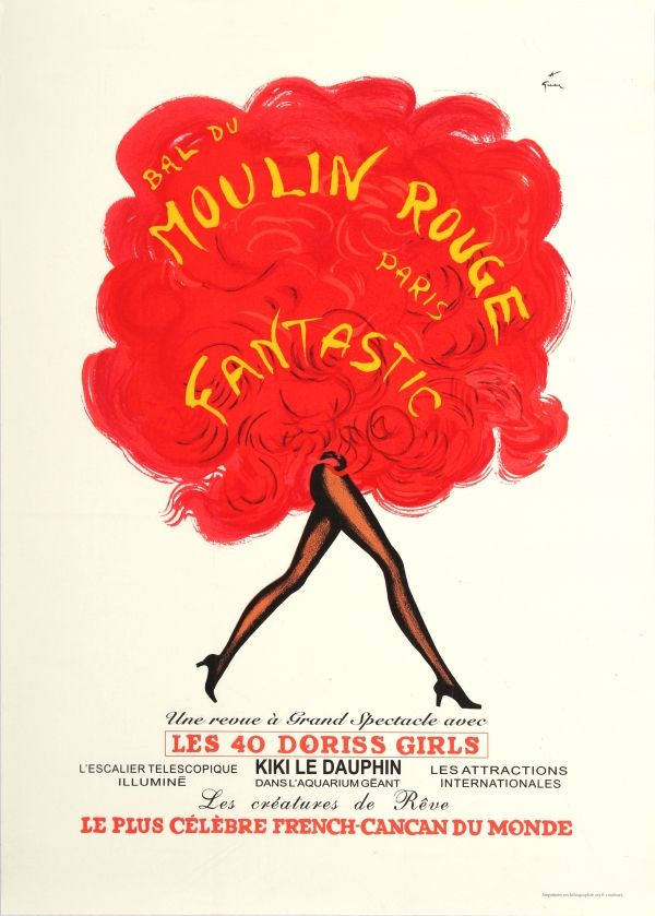 Original Vintage Posters -> Advertising Posters -> Moulin Rouge Cabaret Rene Gruau - AntikBar