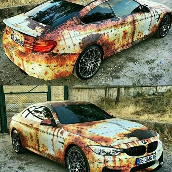 Bmw Vinyl Wrap Rust