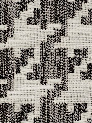 Large Scale Black And White Houndstooth Upholstery Fabric Black