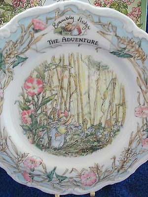 one of the Surprise Outing plates Royal Doulton Brambly Hedge The Plan plate
