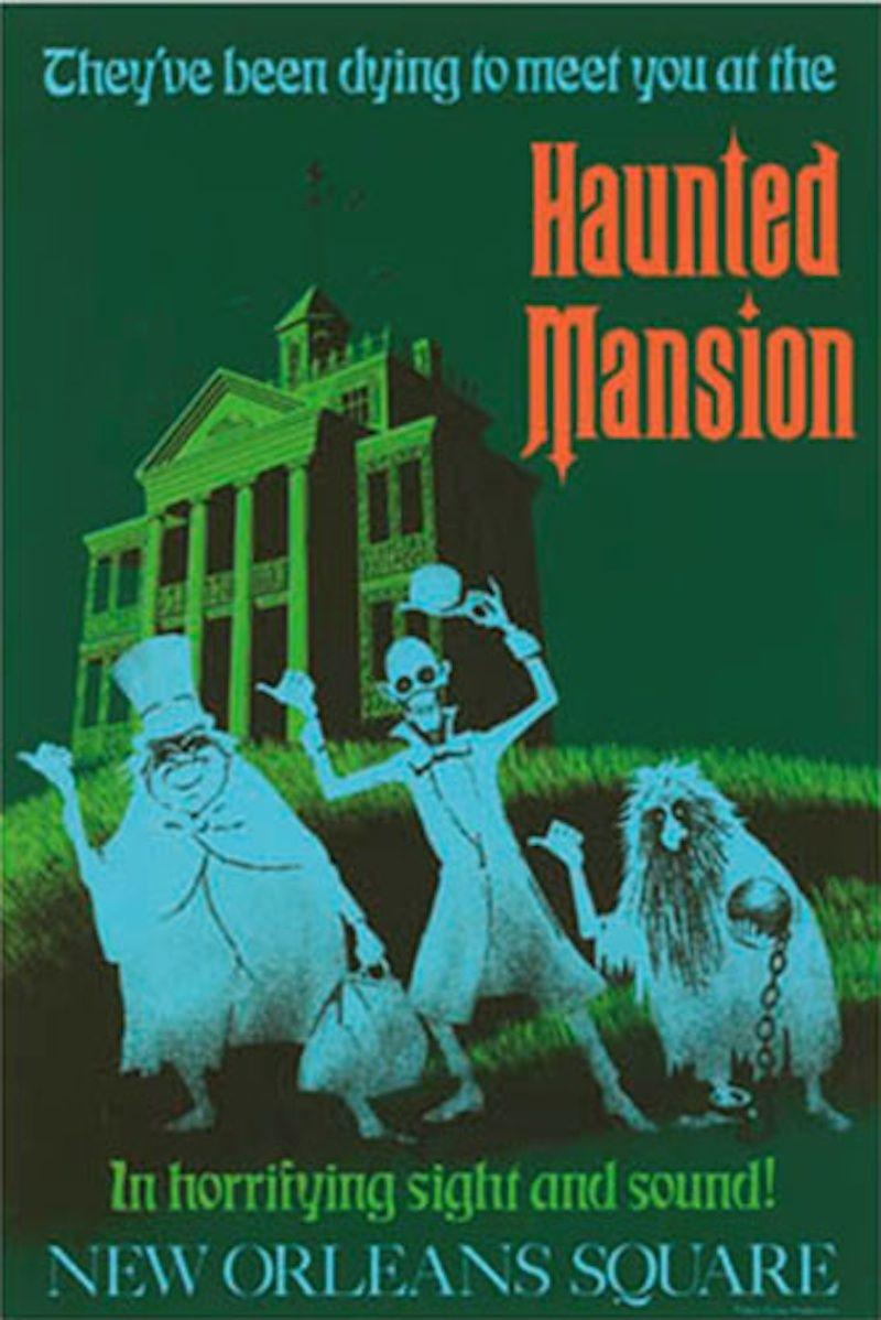 Haunted Mansion Attraction Poster Artwork | Disneyland Resort