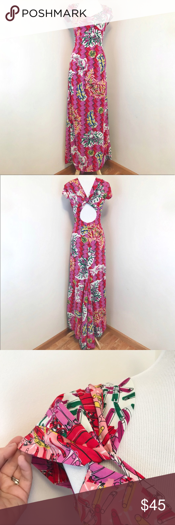 Zac posen for target safety pin print gown dress my posh closet