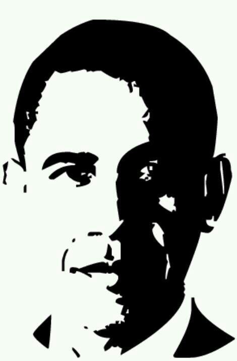 barack obama visage noir et blanc pinterest barack
