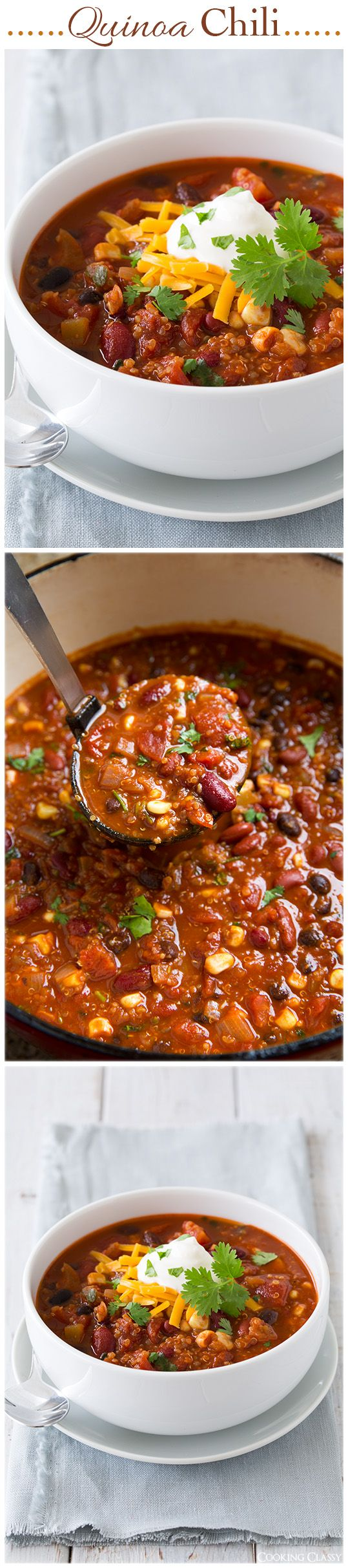 Quinoa Chili - Even meat eaters LOVE this chili! It's one of my most popular recipes, try and you'll see why!