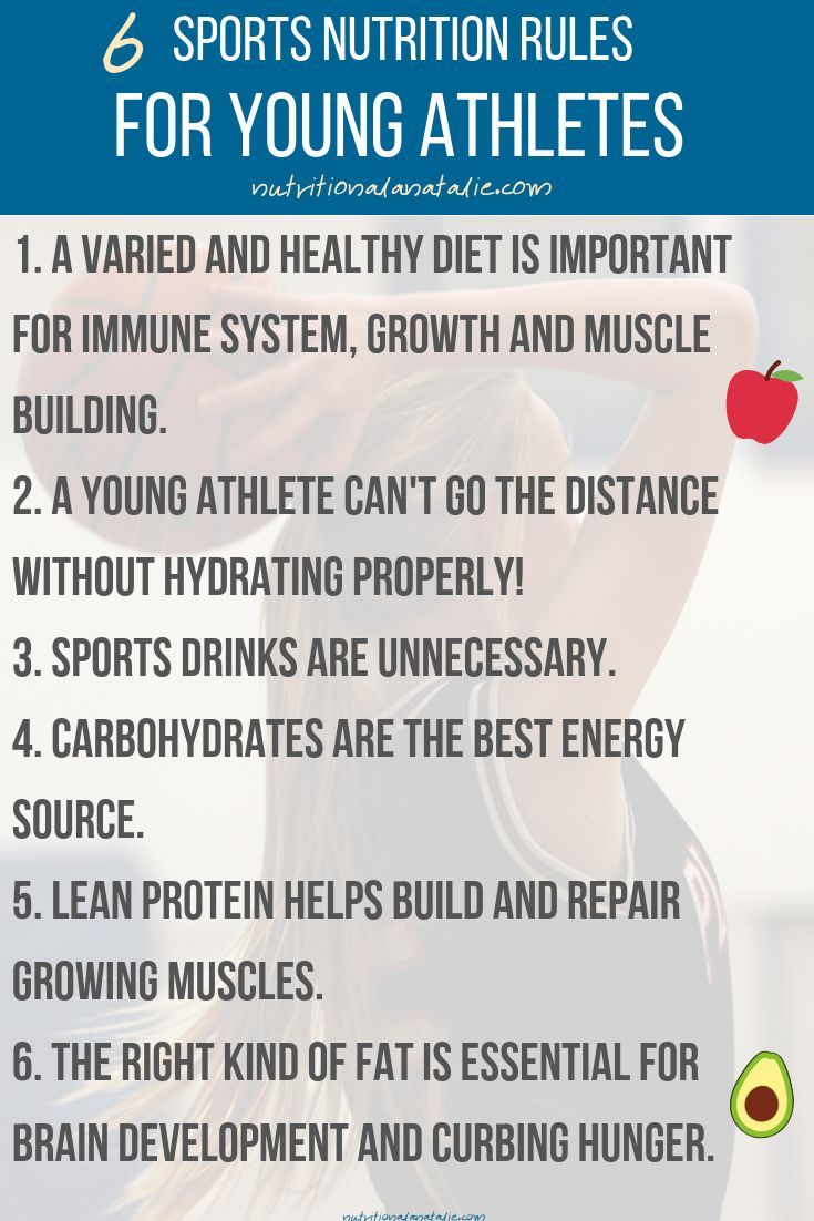 6 Sports Nutrition Rules For Young Athletes #athletenutrition