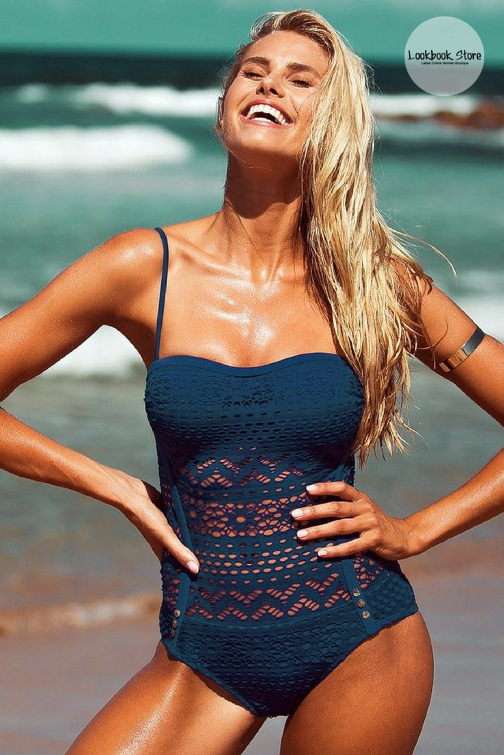 Navy Lace Bikini