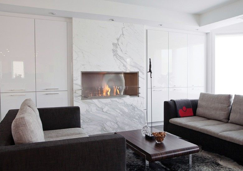 EcoSmart Fire 1200SS fireplace featured in Private Residence, Toronto, Canada // endless possibilities