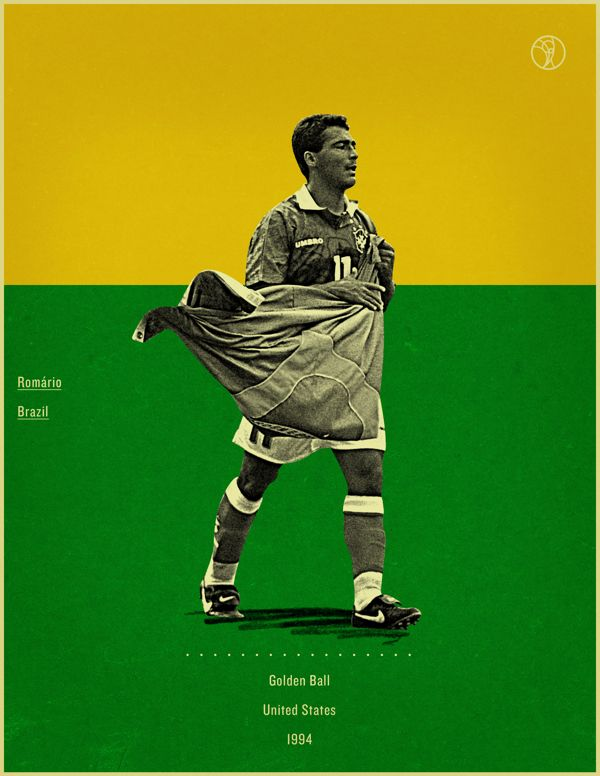 Retro Style Poster Series Of The World Cup Golden Ball Winners World Football World Cup Soccer Poster