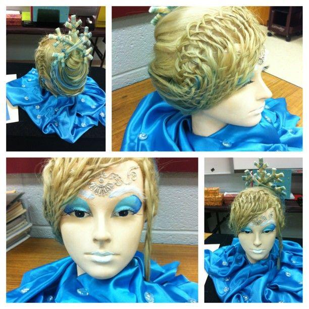 Fantasy Mannequin Snow White The Ice Princess Hair Contest Hair Designs Fantasy Hair