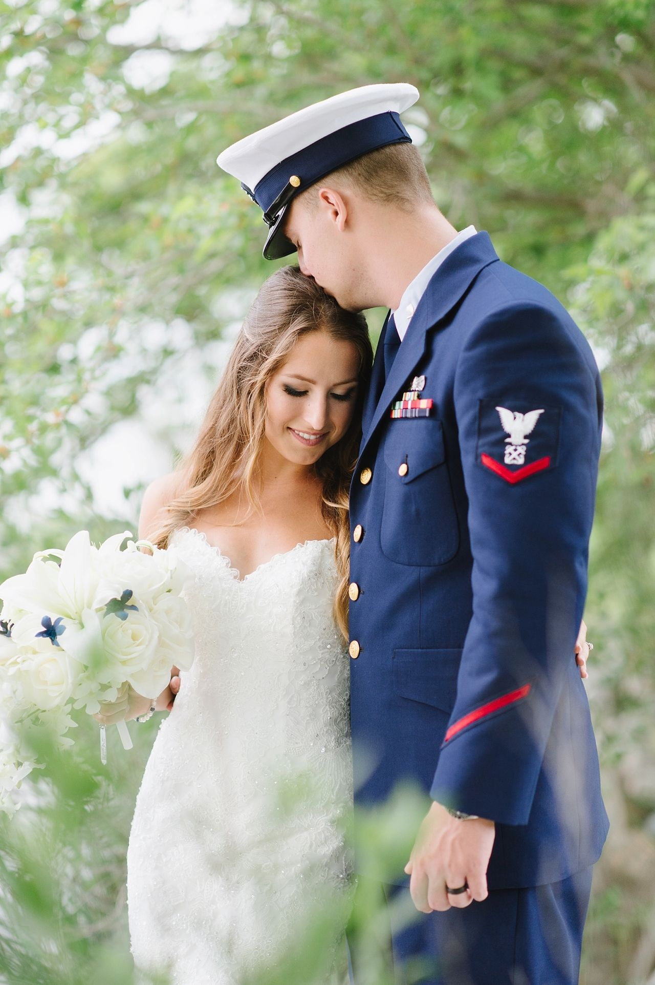 d96ab5d7a3b Romantic Coast Guard Military Wedding with High School Sweethearts by Natalie  Franke Photography http