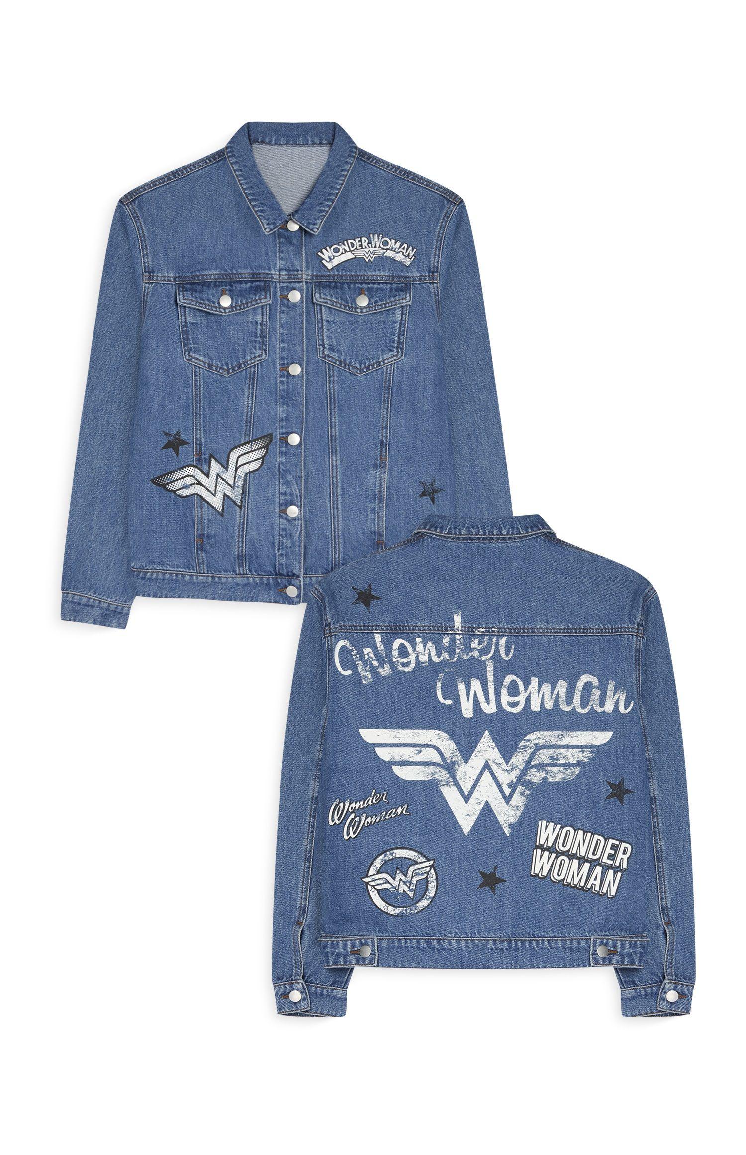 Wonder woman denim jacket dc originals | Customização de