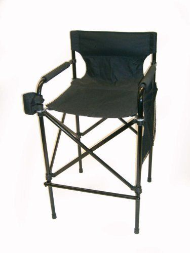 Award Winning Black Beauty Tall Directors Chair Telescopic Folding Chair Design Easy To Carry Matching Black Carrying Ba With Images Chair Directors Chair Folding Chair