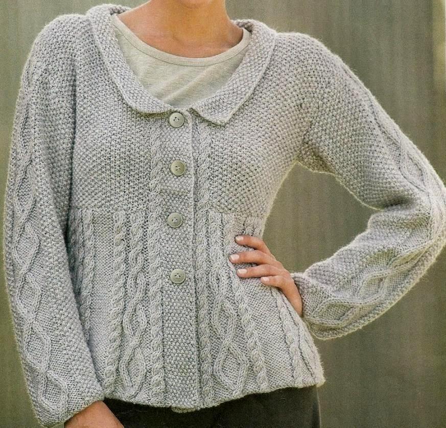 Patrones de Tejido Gratis: Suéter gris perla   andrele   Pinterest ...