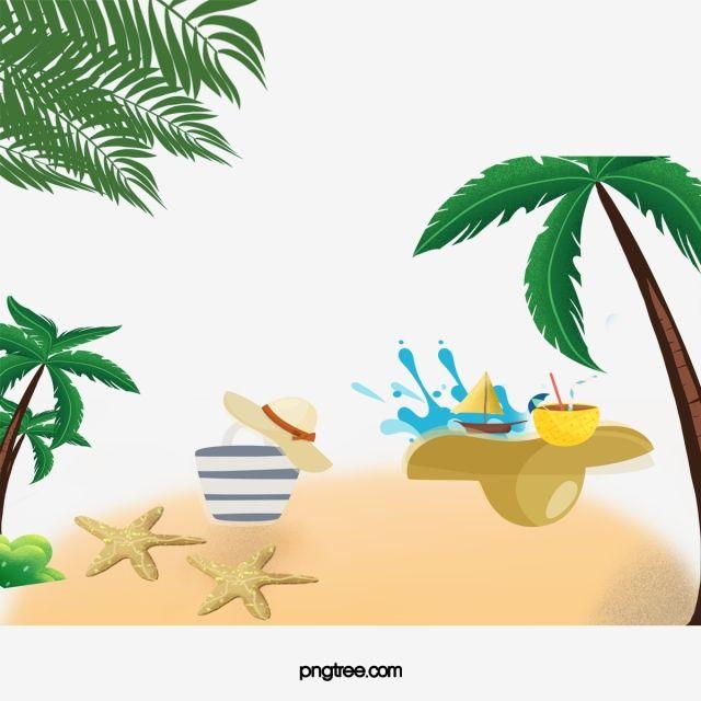 Sommer Strand Urlaub Hintergrund, Sommer, Strand Urlaub