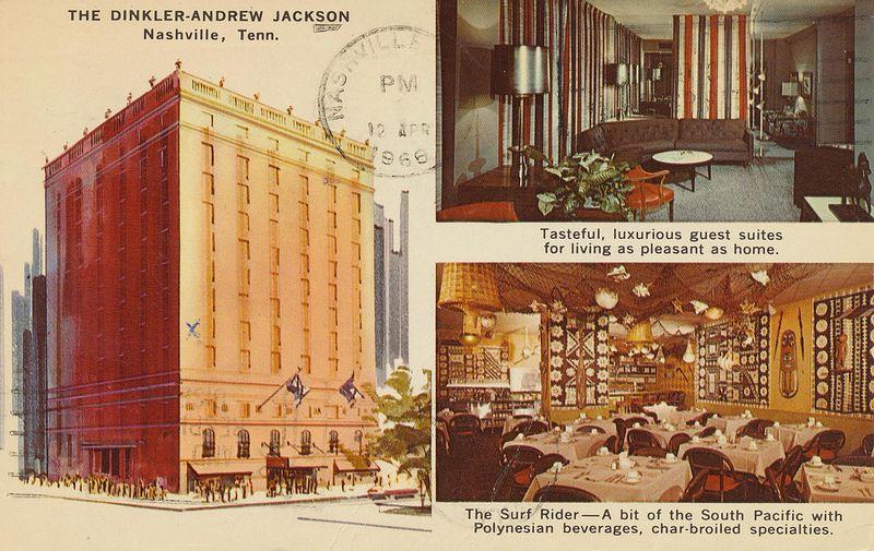 Dinkler Andrew Jackson Nashville Tennessee Nashville Vintage