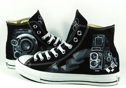 d8ebdbbd Vintage Camera Shoes Sneaker High-top Painted Canvas Shoes,High-top ...