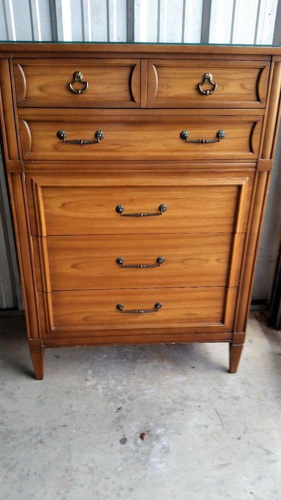 Cherry Wood Dresser Highboy National Of Mt Airy Nc