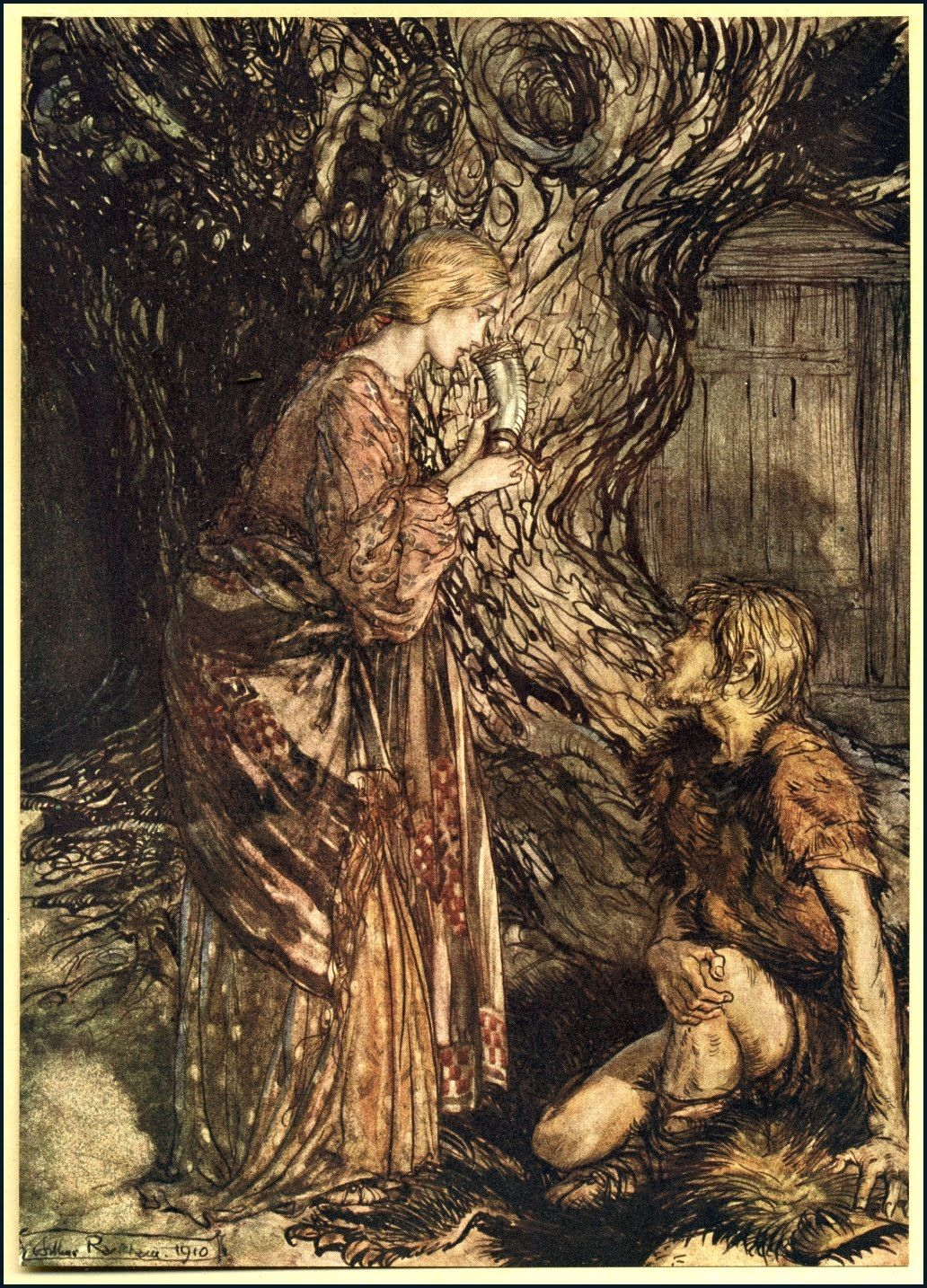 goblin market a poetic tale of Carol rumens: this tale of two sisters tempted by magical and  detail from a  copy of goblin market and other poems by christina rosetti.