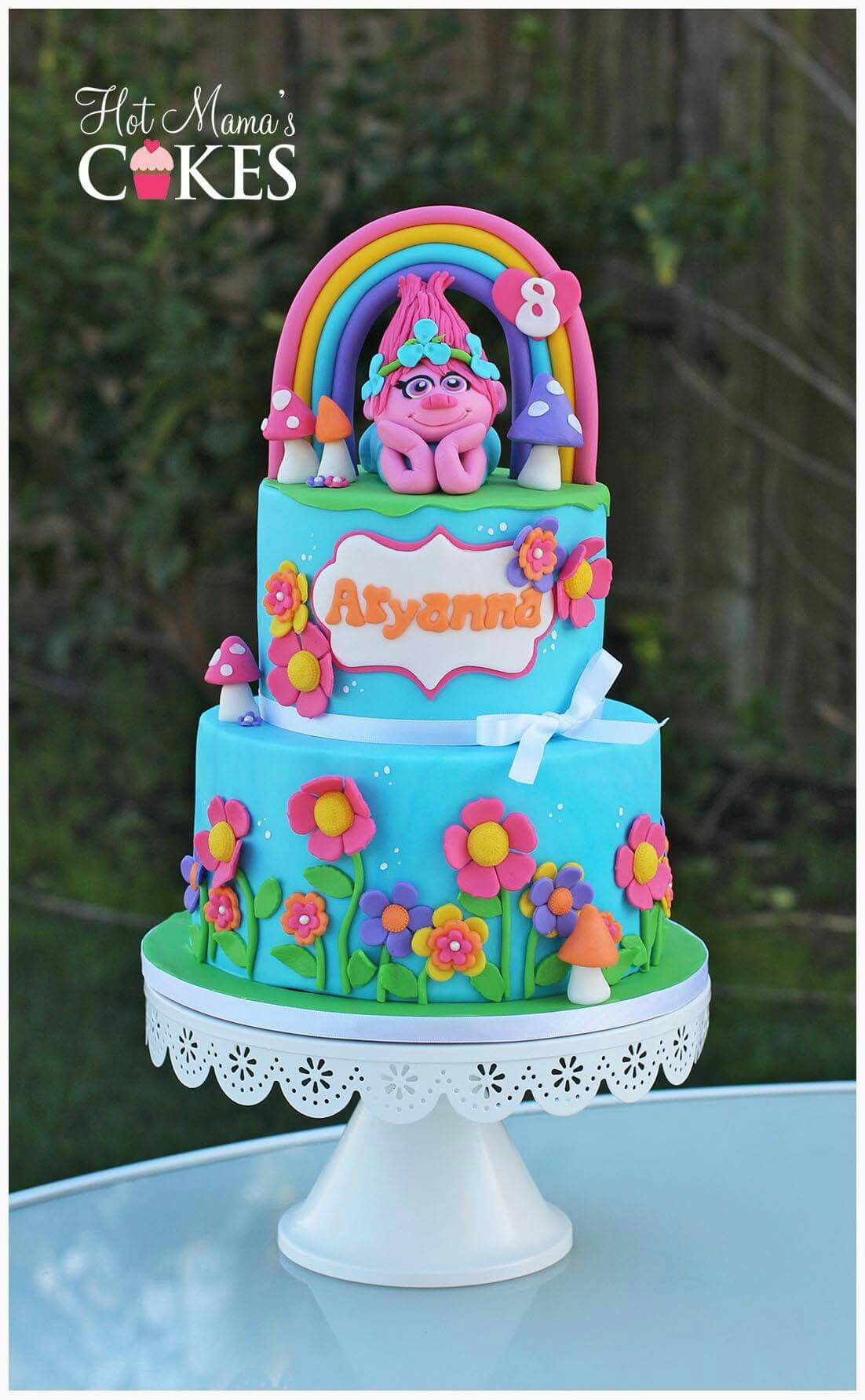 Trolls Cake With Images Trolls Cake