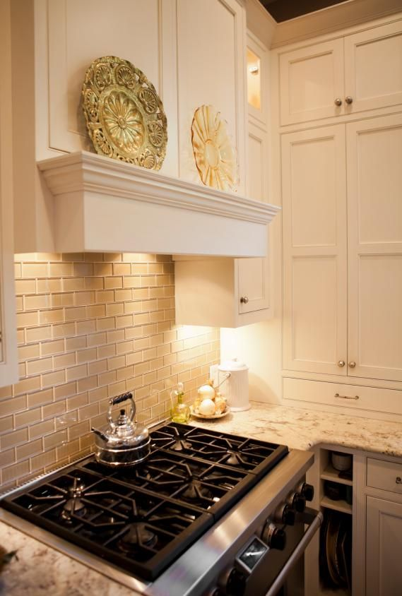 Khaki Glass Subway Tile | Pinterest