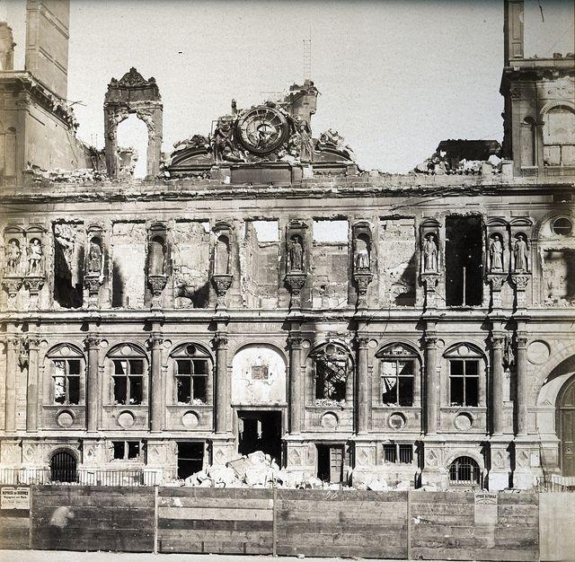 Adolphe Disderi Hotel De Ville After Paris Commune 1871 Paris