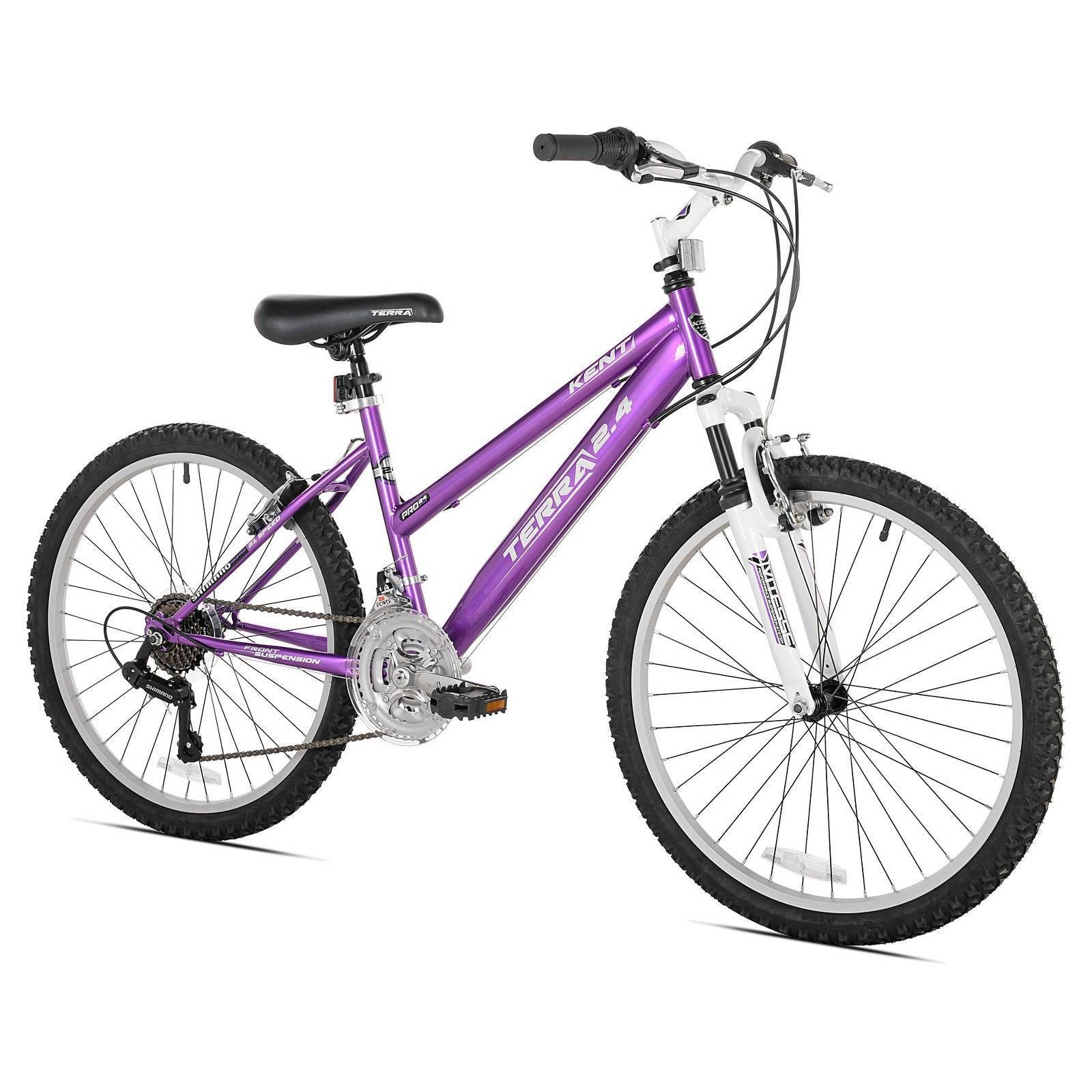 "Kent Terra 2.4 24"" Girls Mountain Bike 21 Speed Purple"