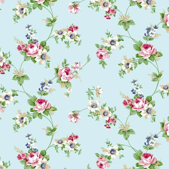 antique rose sky blue flower pattern self adhesive wallpapers is the envy of the world - Flower Wallpaper For Walls
