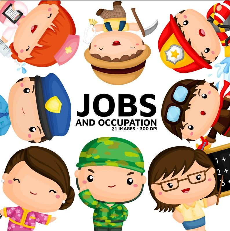 Job And Occupation Clipart Cute Job Clip Art Profession Clipart Free Svg On Request Occupation Clipart Clip Art Free Clip Art