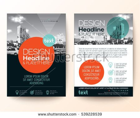 Poster Flyer Pamphlet Brochure Cover Design Layout With Circle Shape  Graphic Elements And Space For Photo Background, Black, Red, Turquoise  Color Su2026  Pamphlet Layout Template