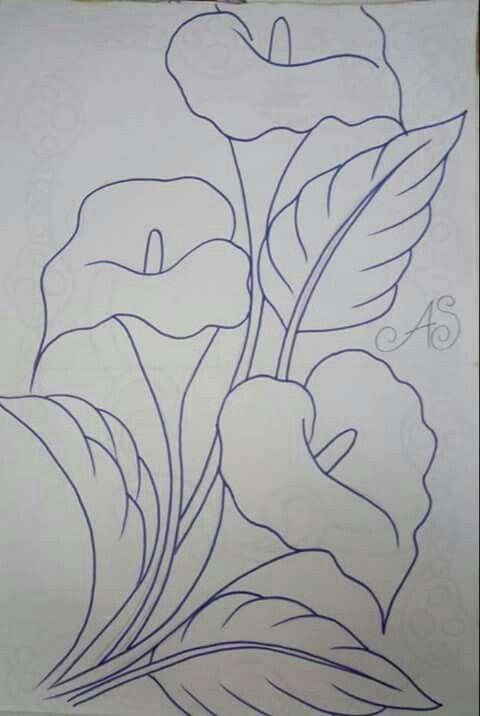 Pin De Aygul En Dibujos Dibujos Para Bordar Mexicano Pintura En Tela Flores Dibujos