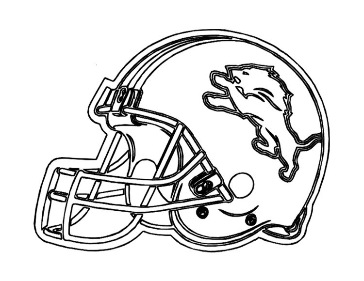 Football Helmet Detroit Lions Coloring Page For Kids Football