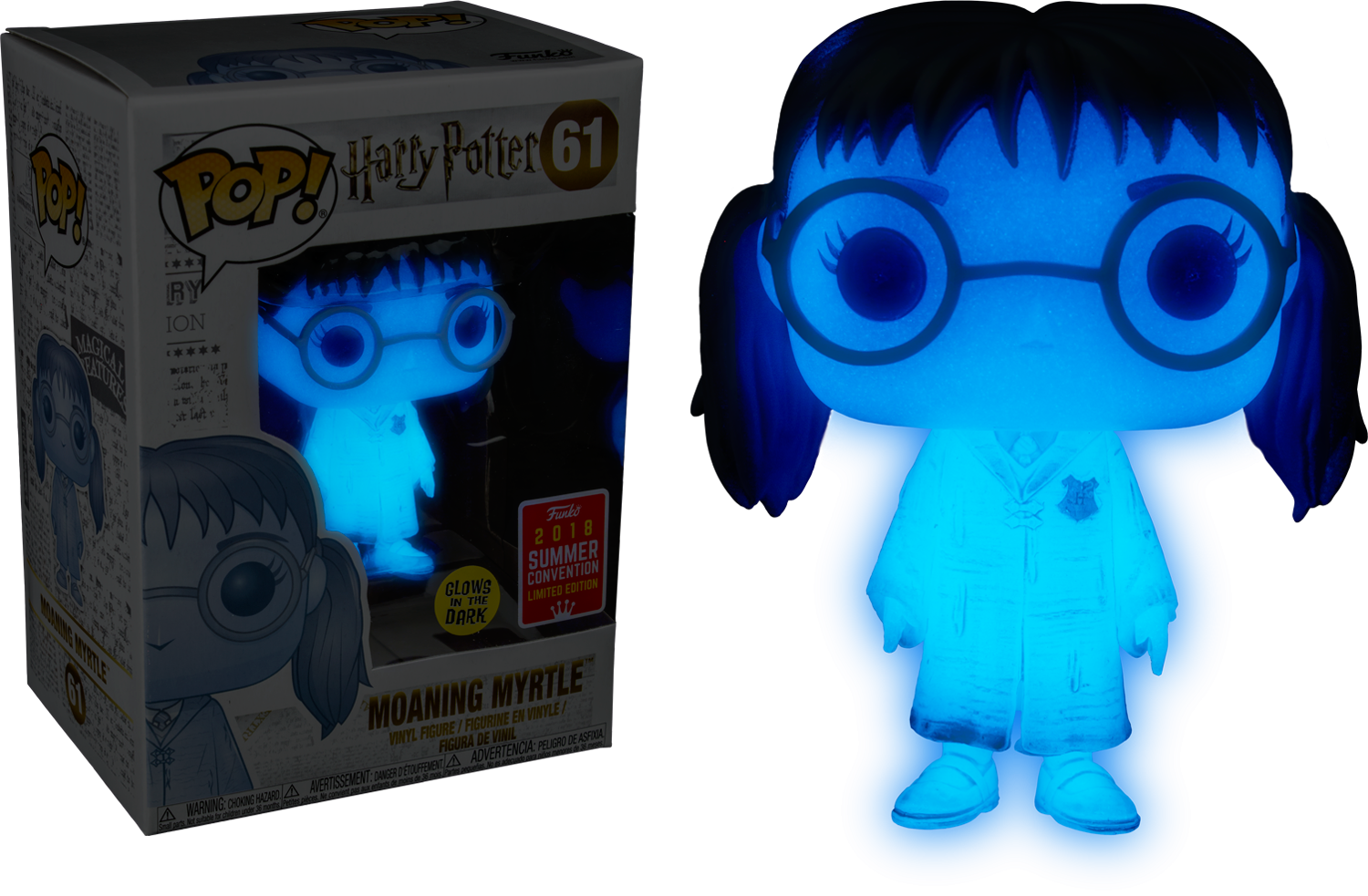 Harry Potter Moaning Myrtle Glow in the Dark Funko Pop