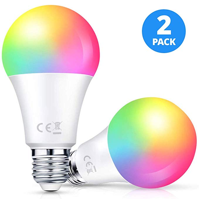 Amazon Com Bombillas Led Inteligentes Larkkey Wifi Multicolor Compatibles Con Alexa Y Google Assistant E26 Rgbw Cam En 2020 Bombillas Led Ahorro De Energia Bombillas