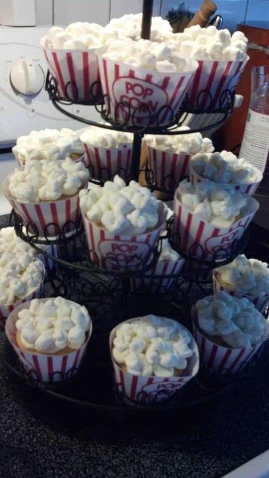 Popcorn theme cupcakes