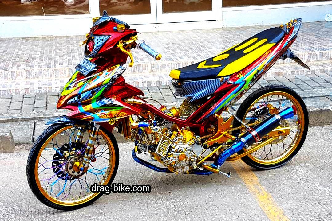 40 Foto Gambar Modifikasi Jupiter Mx King Jari Jari Ceper Drag